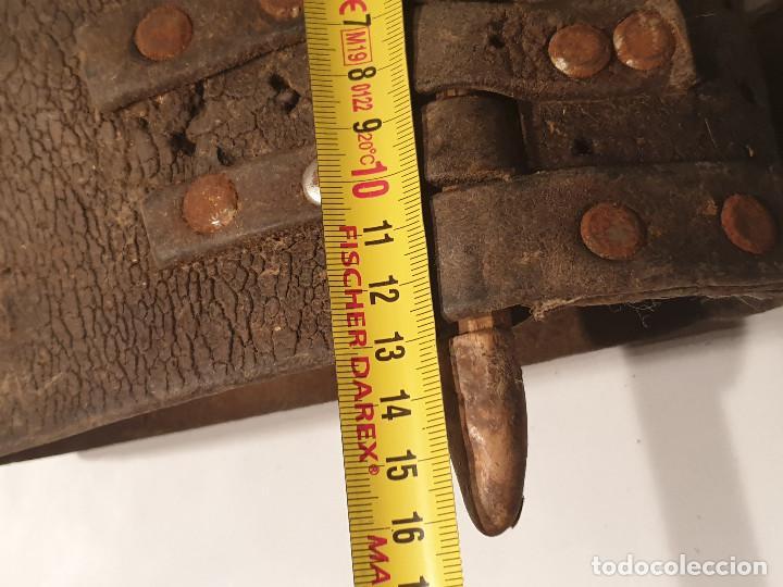 Antigüedades: ARTE PASTORIL COLLAR CON PASADOR DE BOJ TALLADO, PARA CENCERRO - Foto 3 - 277005198