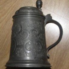Antigüedades: ANTIGUA JARRA DE ZINC, MARCADA CON FECHA 05.1.1899 SE PUEDE VER. Lote 198377452