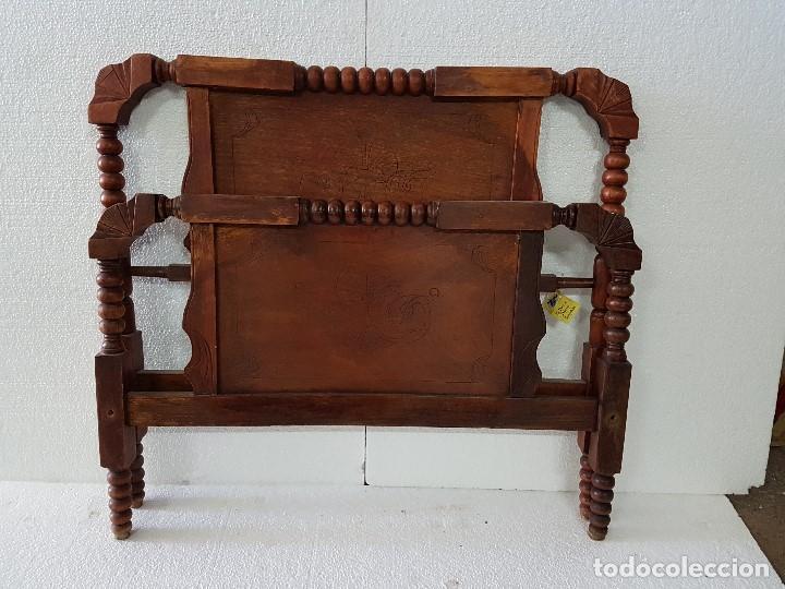 ANTIGUA CAMA TORNEADA (Antigüedades - Muebles Antiguos - Camas Antiguas)