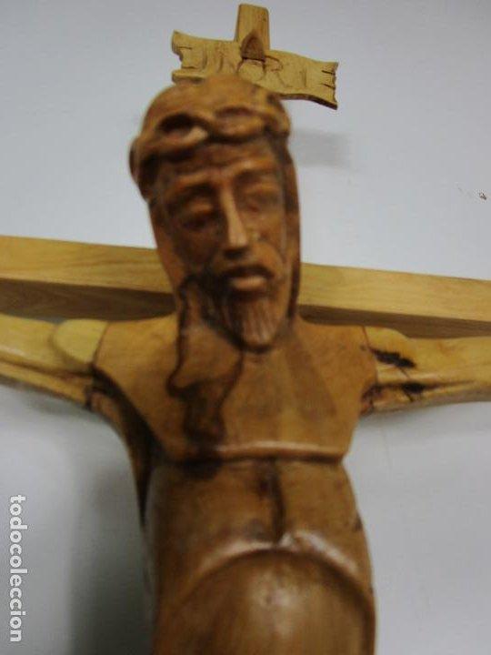 Antigüedades: Crucifijo - Cristo a la Cruz - Talla en Madera de Boj - 62 cm Altura - Foto 4 - 198391072
