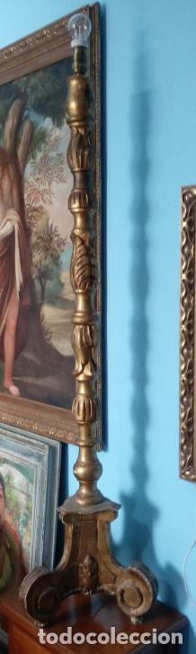 Antigüedades: HACHERO DE MADERA S. XVIII, EN FUNCIONAMIENTO LUZ ELÉCTRICA. 150 CMS ALTURA (BUEN TAMAÑO). - Foto 8 - 198412233
