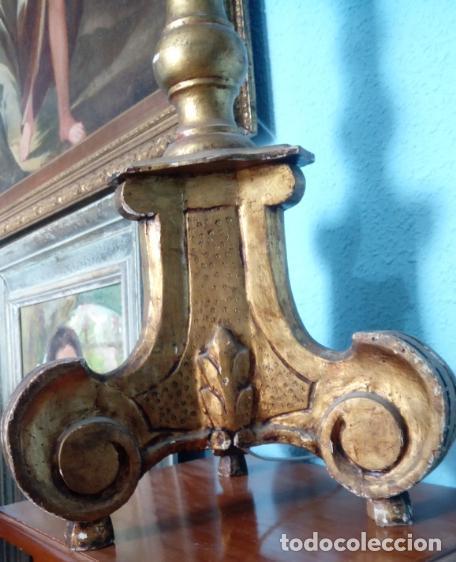 Antigüedades: HACHERO DE MADERA S. XVIII, EN FUNCIONAMIENTO LUZ ELÉCTRICA. 150 CMS ALTURA (BUEN TAMAÑO). - Foto 12 - 198412233