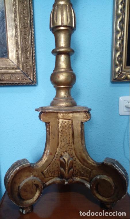 Antigüedades: HACHERO DE MADERA S. XVIII, EN FUNCIONAMIENTO LUZ ELÉCTRICA. 150 CMS ALTURA (BUEN TAMAÑO). - Foto 18 - 198412233