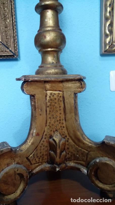 Antigüedades: HACHERO DE MADERA S. XVIII, EN FUNCIONAMIENTO LUZ ELÉCTRICA. 150 CMS ALTURA (BUEN TAMAÑO). - Foto 19 - 198412233