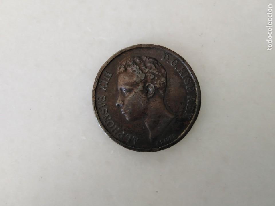 ANTIGUA MEDALLA ALFONSO XIII 1902 (Antigüedades - Religiosas - Medallas Antiguas)