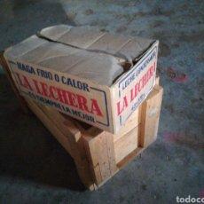 Antigüedades: ÚNICA CAJA CARTÓN LECHE CONDENSADA LA LECHERA. Lote 198458443