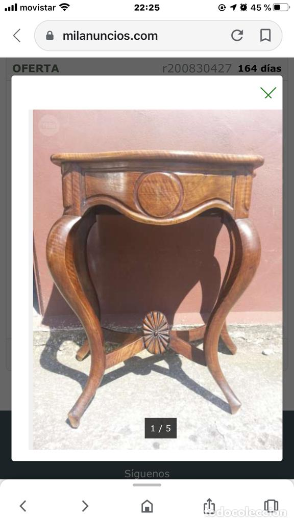 Antigüedades: Consola de nogal s.XIX - Foto 2 - 198460136