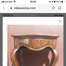 Antigüedades: CONSOLA DE NOGAL S.XIX. Lote 198460136