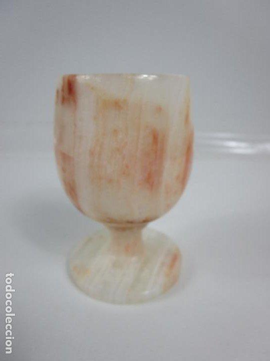 Antigüedades: Decorativas Copas de Onix - con Estuche - Altura Copa 8 cm - Foto 5 - 198460548