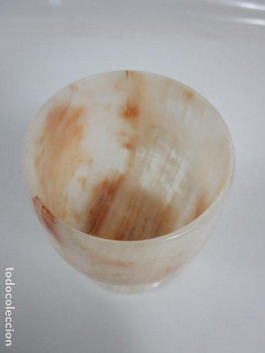 Antigüedades: Decorativas Copas de Onix - con Estuche - Altura Copa 8 cm - Foto 6 - 198460548
