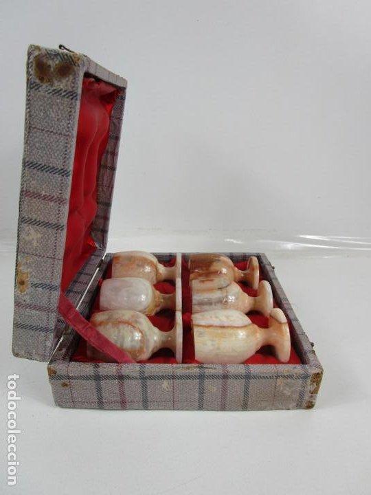 Antigüedades: Decorativas Copas de Onix - con Estuche - Altura Copa 8 cm - Foto 11 - 198460548