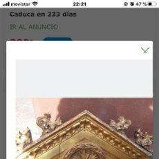 Antigüedades: REMATE EN MADERA DORADA . Lote 198461702