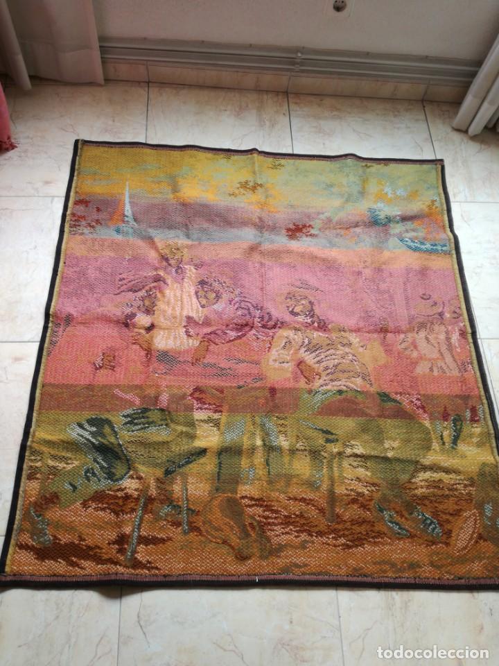 Antigüedades: GRAN TAPIZ ANTIGUO CON ESCENA DE TABERNA. - Foto 4 - 198522167