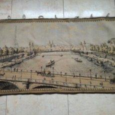 Antigüedades: TAPIZ ANTIGUO CON ESCENA PARISINA.. Lote 198523803