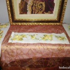 Antigüedades: TELA PARA HACER EMBOZO DE SABANA Y ALMOHADA.. Lote 198527990