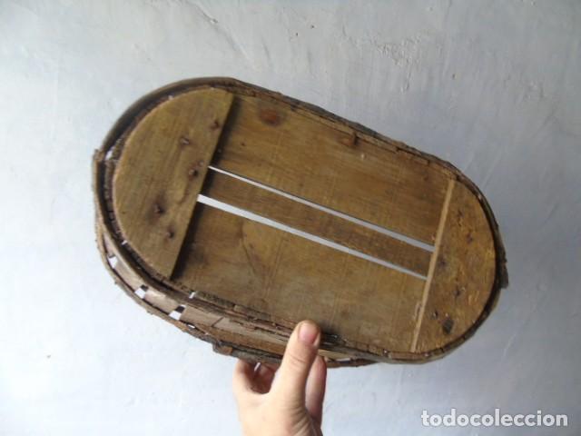 Antigüedades: CAJA CESTA BANASTA DE MADERA CON SU TAPA DIFICIL !!! - Foto 13 - 198529827