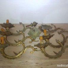 Antiquités: LOTE DE ANTIGUOS BRAZOS DE LÁMPARA DE BRONCE. Lote 198545710