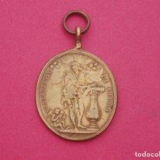 Antigüedades: MEDALLA SIGLO XVIII SANTO CRISTO DE RIVAS Y VIRGEN DE LAS MERCEDES.. Lote 198566532