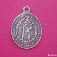 Antigüedades: MEDALLA SIGLO XIX VIRGEN DE LOS OJOS GRANDES LUGO Y SAGRADOS CORAZONES.. Lote 198617377