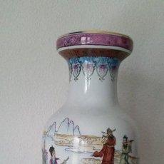 Antigüedades: GRANDE JARON CHINO SELADO NA BASE HECHO Y PINTADO A MANO. Lote 198619513