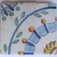Antigüedades: AZULEJO, BALDOSA ESMALTADA. S XVIII/XIX. Lote 198653461