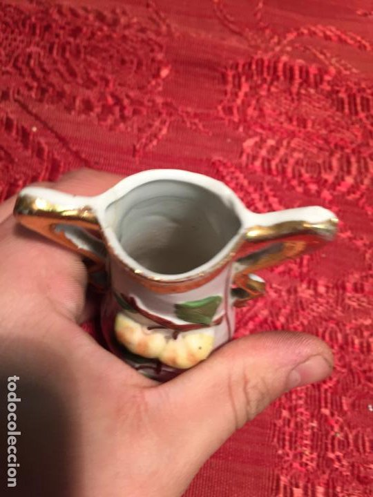 Antigüedades: Antiguo jarrón / florero de porcelana blanca de estilo Modernista años 20-30 - Foto 6 - 198739407