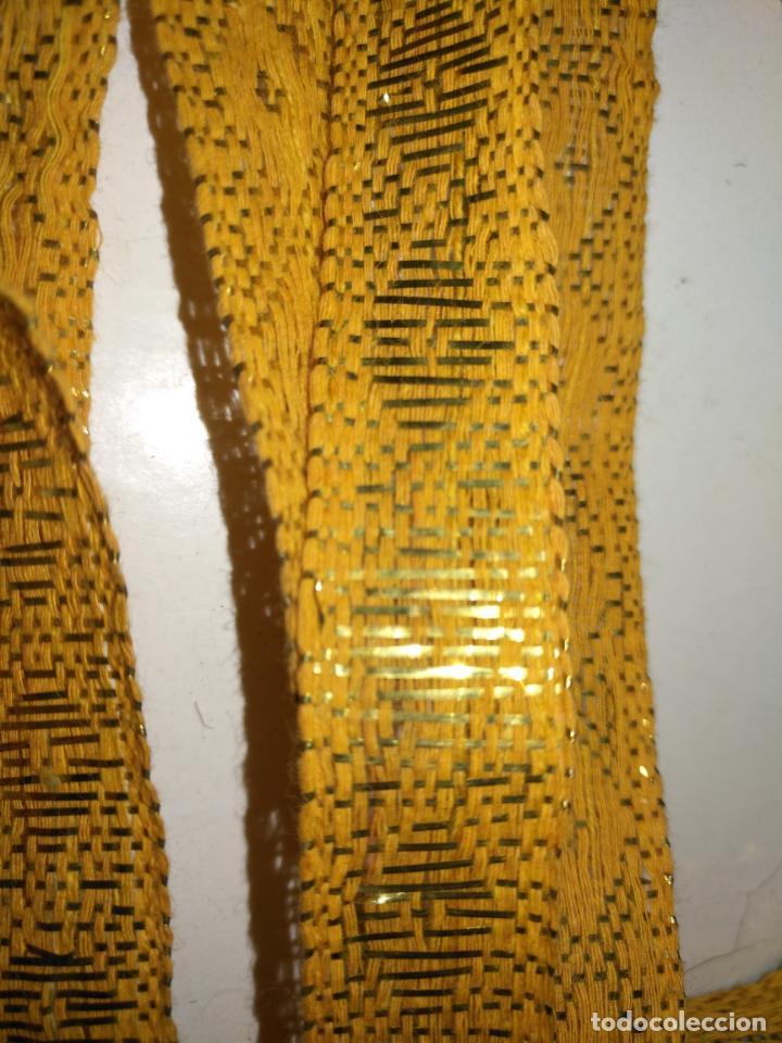 Antigüedades: ref: COR-4 1 METRO X 1,6 CM ANTIGUO GALON HOJILLA ORO METAL IDEAL VIRGEN SEMANA SANTA - Foto 2 - 211451059