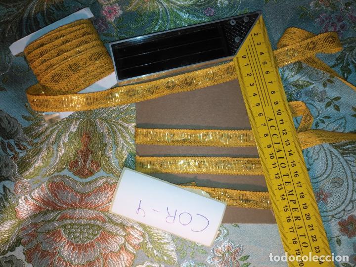 Antigüedades: ref: COR-4 1 METRO X 1,6 CM ANTIGUO GALON HOJILLA ORO METAL IDEAL VIRGEN SEMANA SANTA - Foto 6 - 211451059