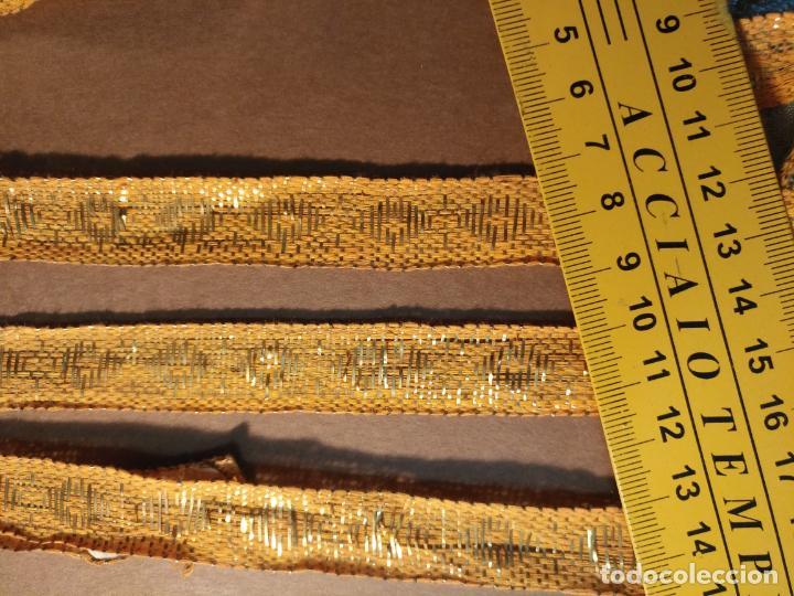 Antigüedades: ref: COR-4 1 METRO X 1,6 CM ANTIGUO GALON HOJILLA ORO METAL IDEAL VIRGEN SEMANA SANTA - Foto 15 - 211451059
