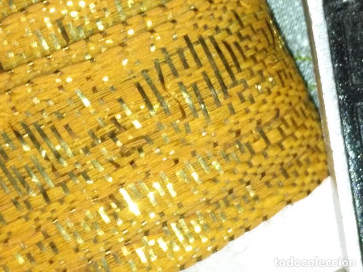 Antigüedades: ref: COR-4 1 METRO X 1,6 CM ANTIGUO GALON HOJILLA ORO METAL IDEAL VIRGEN SEMANA SANTA - Foto 17 - 211451059