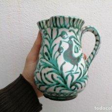 Antigüedades: JARRA DE CERÁMICA FAJALAUZA GRANADA COLOR VERDE. Lote 198770508