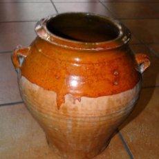 Antigüedades: ALFARERÍA CANTAROS CERÁMINA DE ARAGÓN TERUEL VIDRIADA PARTE SUPERIOR. Lote 198786220