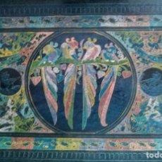 Antigüedades: BANDEJA MADERA MEXICANA. Lote 198800290