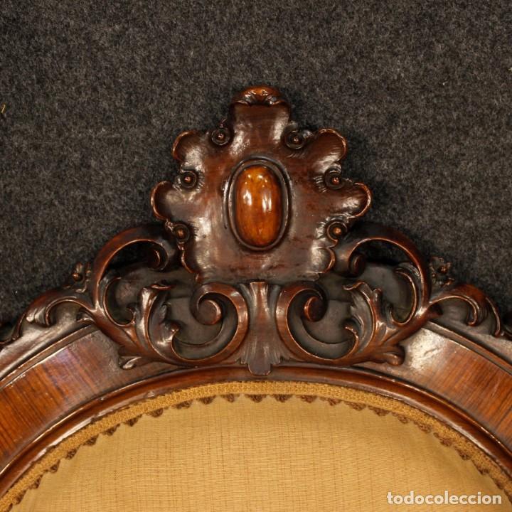 Antigüedades: Par de sillones de nogal italiano Louis Philippe del siglo XIX - Foto 9 - 198817056