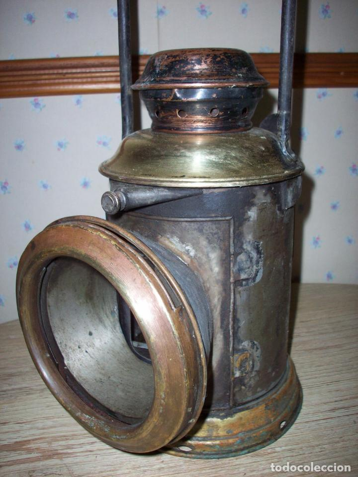 Antigüedades: FAROL FERROVIARIO ANTIGUO DE LOCOMOTORA - Foto 2 - 198823526