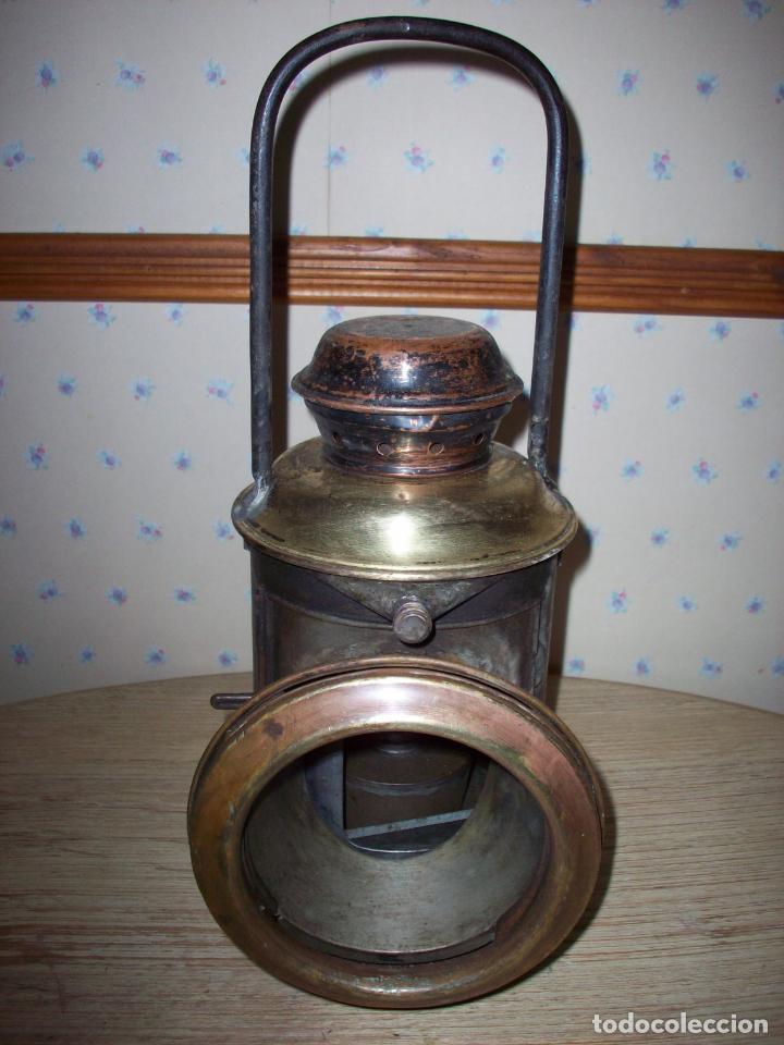 Antigüedades: FAROL FERROVIARIO ANTIGUO DE LOCOMOTORA - Foto 6 - 198823526