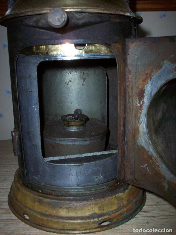Antigüedades: FAROL FERROVIARIO ANTIGUO DE LOCOMOTORA - Foto 7 - 198823526