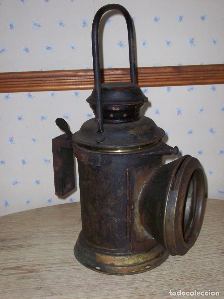 Antigüedades: FAROL FERROVIARIO ANTIGUO DE LOCOMOTORA - Foto 11 - 198823526