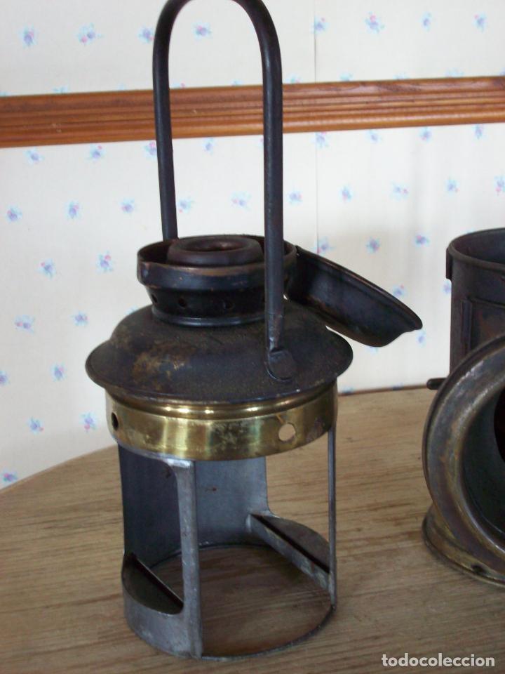 Antigüedades: FAROL FERROVIARIO ANTIGUO DE LOCOMOTORA - Foto 16 - 198823526