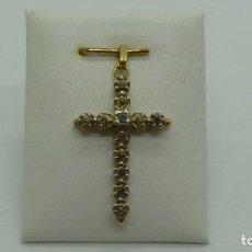 Antigüedades: CRUZ ESTILO ISABELINO CON ZAFIROS 3 FACETAS.. Lote 198824061