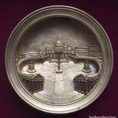 Antigüedades: PLATO DE PLAZA DE SAN PEDRO. Lote 198854590