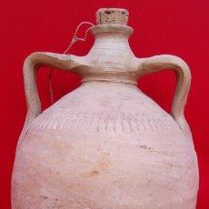 Oggetti Antichi: CÁNTARO AGUA ALFAR DE LUCENA S. XIX. 30 CMS DE ALTURA. LA BASE TIENE UN DIÁMETRO DE 10.5 CMS.. Lote 198854873