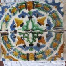 Antigüedades: PAREJA Nº3 AZULEJOS SIGLO XVI (TRIANA). Lote 198859381