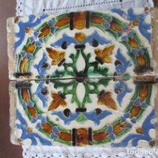 Antigüedades: PAREJA Nº4 AZULEJOS SIGLO XVI (TRIANA). Lote 198859465