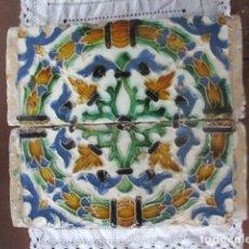 Antigüedades: PAREJA Nº5 AZULEJOS SIGLO XVI (TRIANA). Lote 198859565