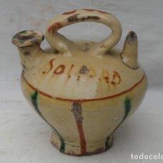 Antigüedades: BOTIJO DE CERÁMICA DE LA BISBAL - SOLEDAD -.. Lote 198880606