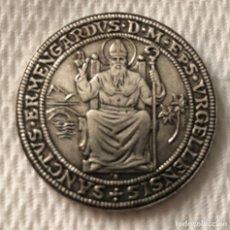Antigüedades: MEDALLA EN PLATA DE LEY , SANT ERMENGOL CON CERTIFICADO DE GARANTÍA Nº : 2221. Lote 198887302