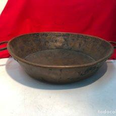 Antigüedades: PAELLA DE COBRE ANTIGUA SIGLO XIX.. Lote 198909230