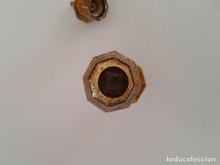 Antigüedades: ANTIGUO PERFUMERO DE COLECCION. HECHO EN CRISTAL Y METAL DORADO SELLADO G.300,1L PERFUME GUERLIN - Foto 7 - 198912802