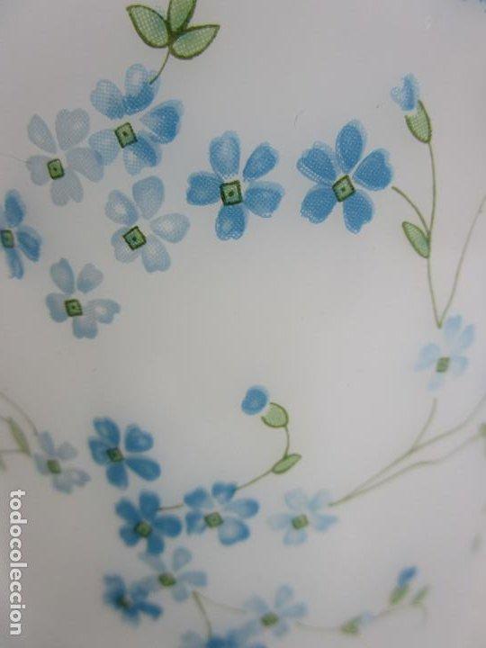Antigüedades: Bote - Albarelo de Farmacia - Cristal Opalina Blanca - Pintado a Mano - Principios S. XX - Foto 3 - 198925981